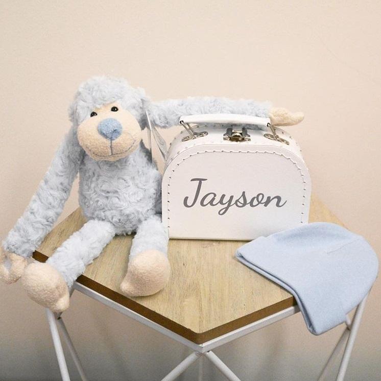 Kraambox gemaakt voor Jayson Kraam-Cadeau.nl