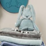 Knuffel konijn met naam (stone green)