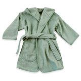 Baby badjas met naam 0-1 jaar (stone green)