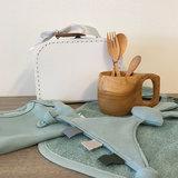 Duurzaam kraampakket koffer 20 cm stone green /wit