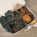 Duurzaam kraampakket koffer 30 cm antraciet /wit