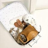 Duurzaam kraampakket koffer 20 cm antraciet/wit