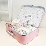 Kraamcadeau koffer groot (roze of blauw)