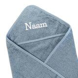 Kraamcadeau tas met naam (grey/blue)