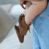 Babyschoentjes leer - Indian Brown