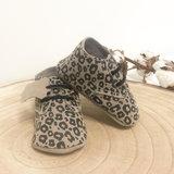 Babyschoentjes leer - Leopard