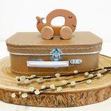 Speelgoed auto met naam - Sea animal (caramel)