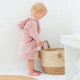 Little Dutch baby badjas met naam - Roze