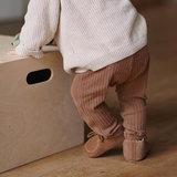 Babyschoentjes leer gevoerd - Brown