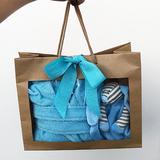 Kraamcadeau tas baby blauw
