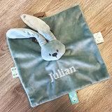 kraamcadeau pakket met naam (olijfgroen)