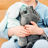 Knuffel konijn met naam (antraciet)
