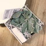 Kraamcadeau met naam geschenkset (stone green)