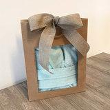 Baby badjas met naam 0-1 jaar (mint)
