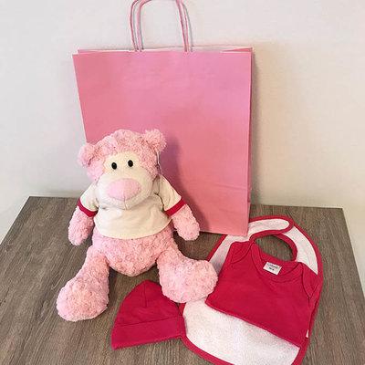 Kraampakket - Knuffel beer met naam (meisje)
