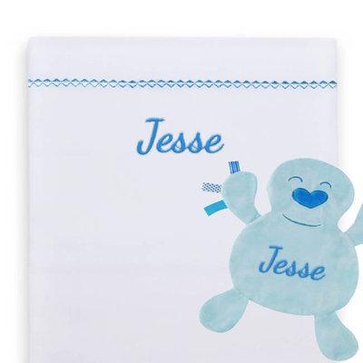 Lakentje met naam (blauw) jongen