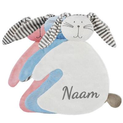 Tutpopje met naam (konijn)