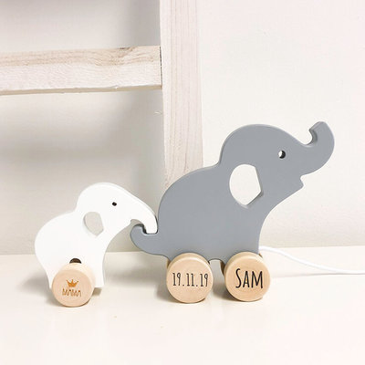 Wooden Elephant Pull toy (BAMBAM)