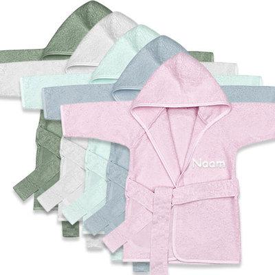 Baby badjas met naam (meisjes)