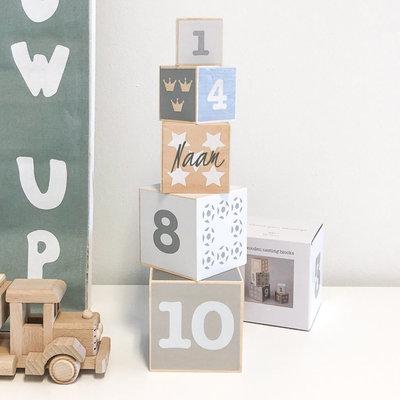 Stapelblokken met naam - HOUT