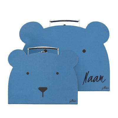Koffertje met naam - dieren (2koffertjes)