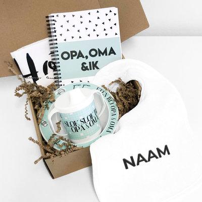 Kraamcadeau Opa & Oma (mint)