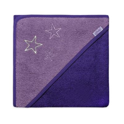 Baby badcape sterren paars