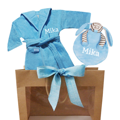 Kraamcadeau tas (baby blauw)