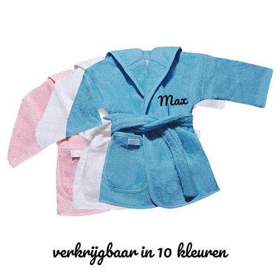 Baby badjas met naam (jongens)