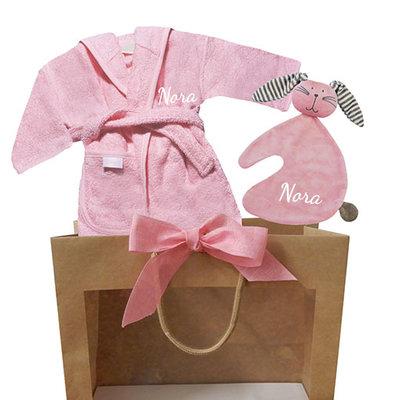 Kraamcadeau tas (baby roze)