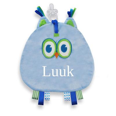 Speendoek Uil (blauw)