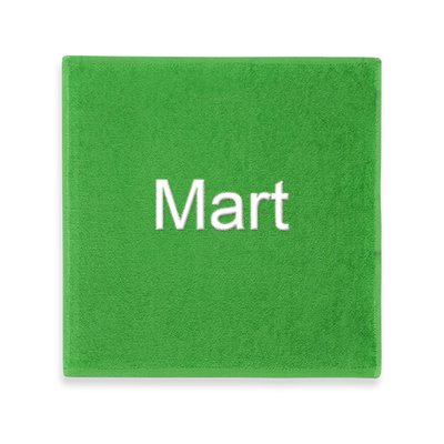 Spuugdoekje met naam (groen)