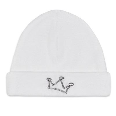 Babymuts kroon (wit)