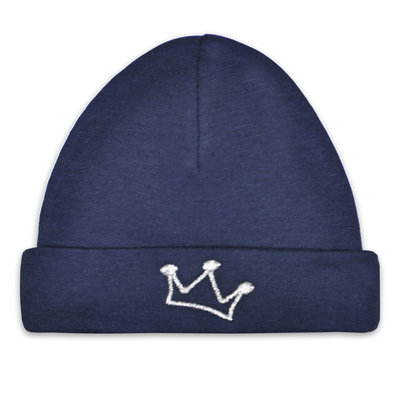 Babymuts kroon (navy)