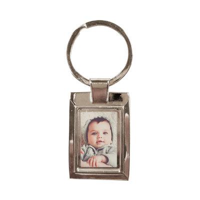 Sleutelhanger met foto (zilver)
