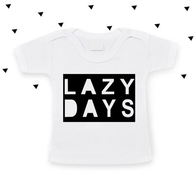 Baby t-shirt LAZY DAYS (wit)