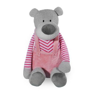 Knuffel beer met broekje (roze)