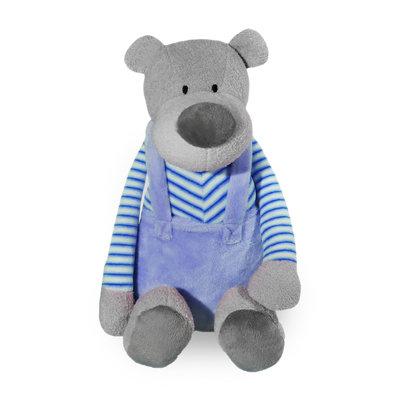 Knuffel beer met broekje (blauw)