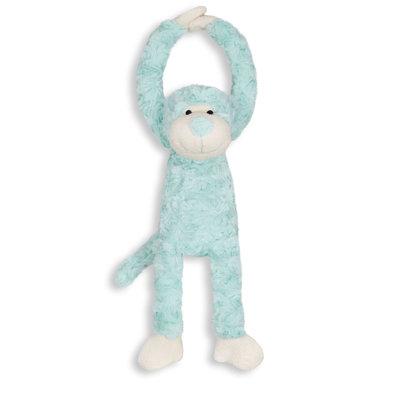 Knuffel slinger aapje handjes met klittenband (mint)