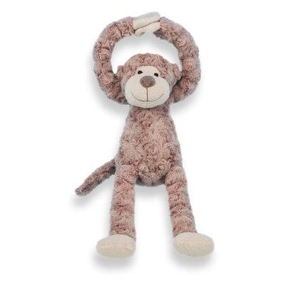 Knuffel slinger aapje handjes met klittenband (bruin)