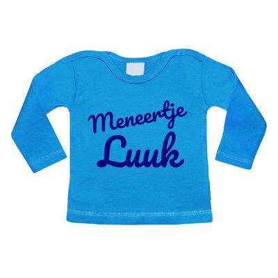 Baby shirt bedrukken met afbeelding (turquoise blauw)