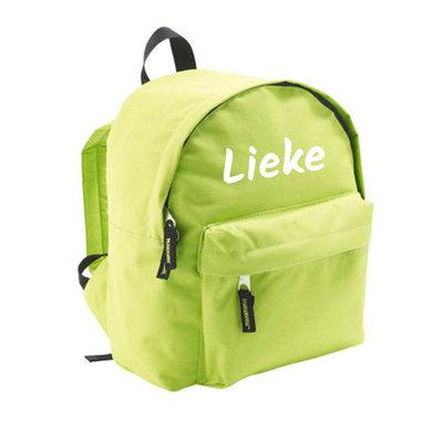 Kindertas met naam bedrukken (groen)
