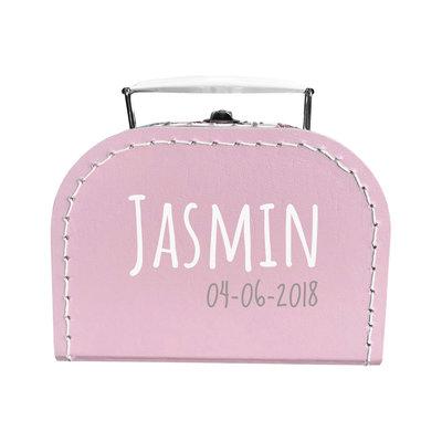 Koffer bedrukken 16cm (roze)