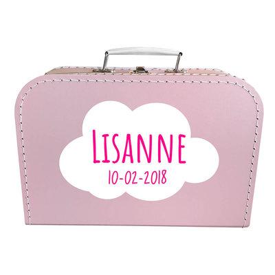 Koffer bedrukken 30cm (roze)