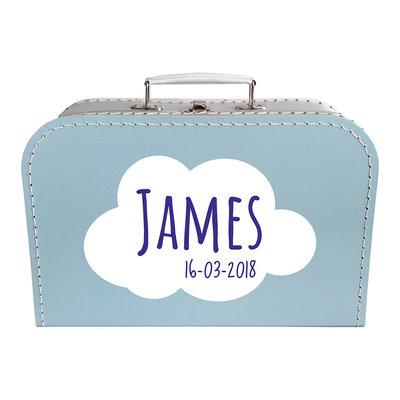 Koffer bedrukken 30cm (blauw)