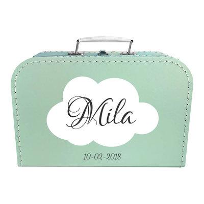 Koffer bedrukken 30cm (mint)