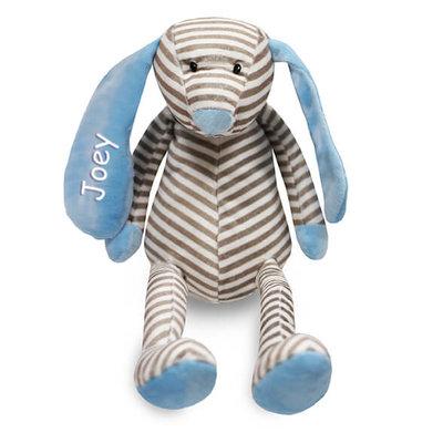 Knuffel hond met naam (blauw)