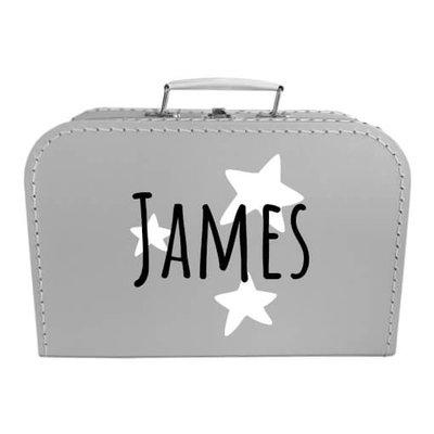 Koffer bedrukken 30cm (zilver)