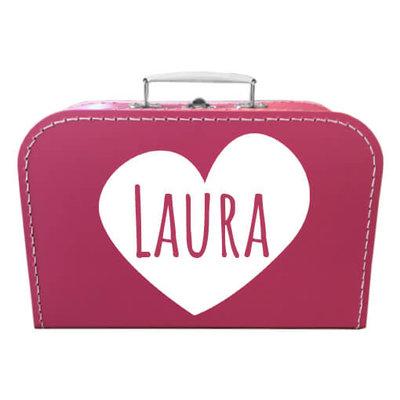 Koffer bedrukken 30cm (fuchsia)