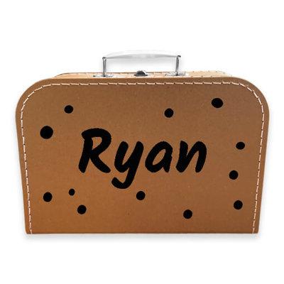 Koffer bedrukken 30cm (kraft)